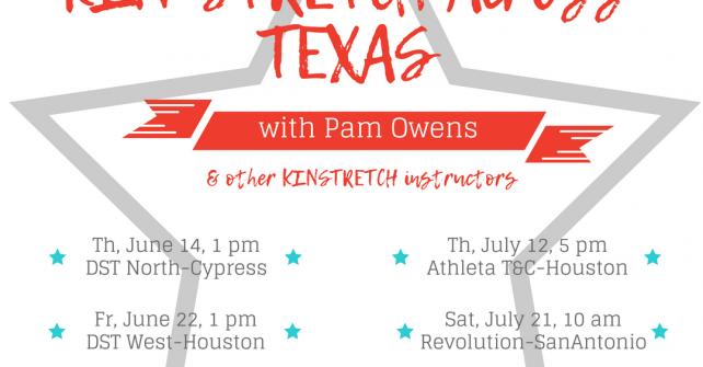 KIN-STRETCH across TEXAS – Houston, Austin, San Antonio & Dallas!